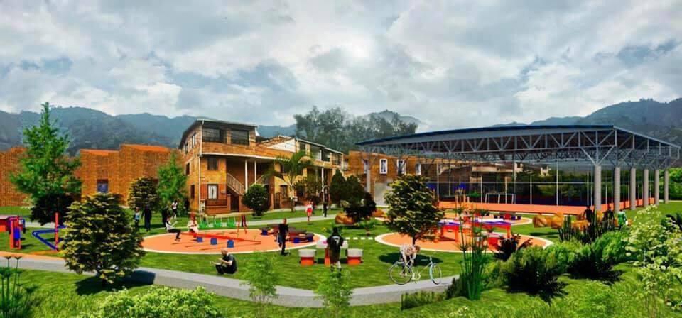 Placa polideportiva Villas de Comfenalco en Bello